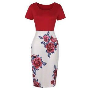 Pencil-Women-039-s-Bodycon-Dress-Formal-Dresses-Sheath-Business-Office-Elegant