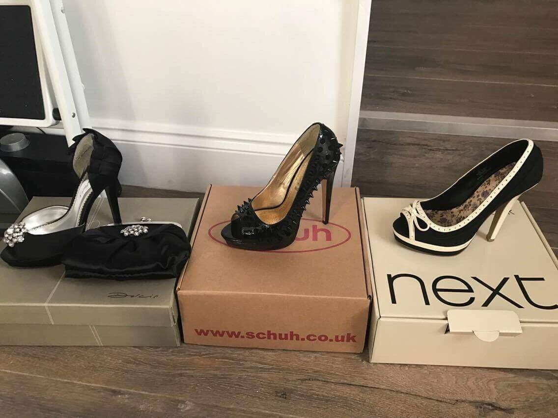 Womens shoes Bundle, Size 3 shoes - Worn once, Original boxes with all.