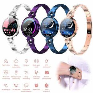 Damen Smartwatch Fitness Tracker Armbanduhr für Samsung Huawei Xiaomi Redmi