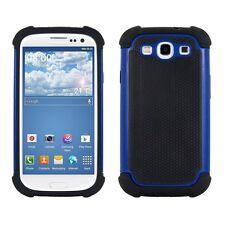 kwmobile Hybrid Schutz Hülle für Samsung Galaxy S3 S3 Neo Blau Schwarz Case Tpu