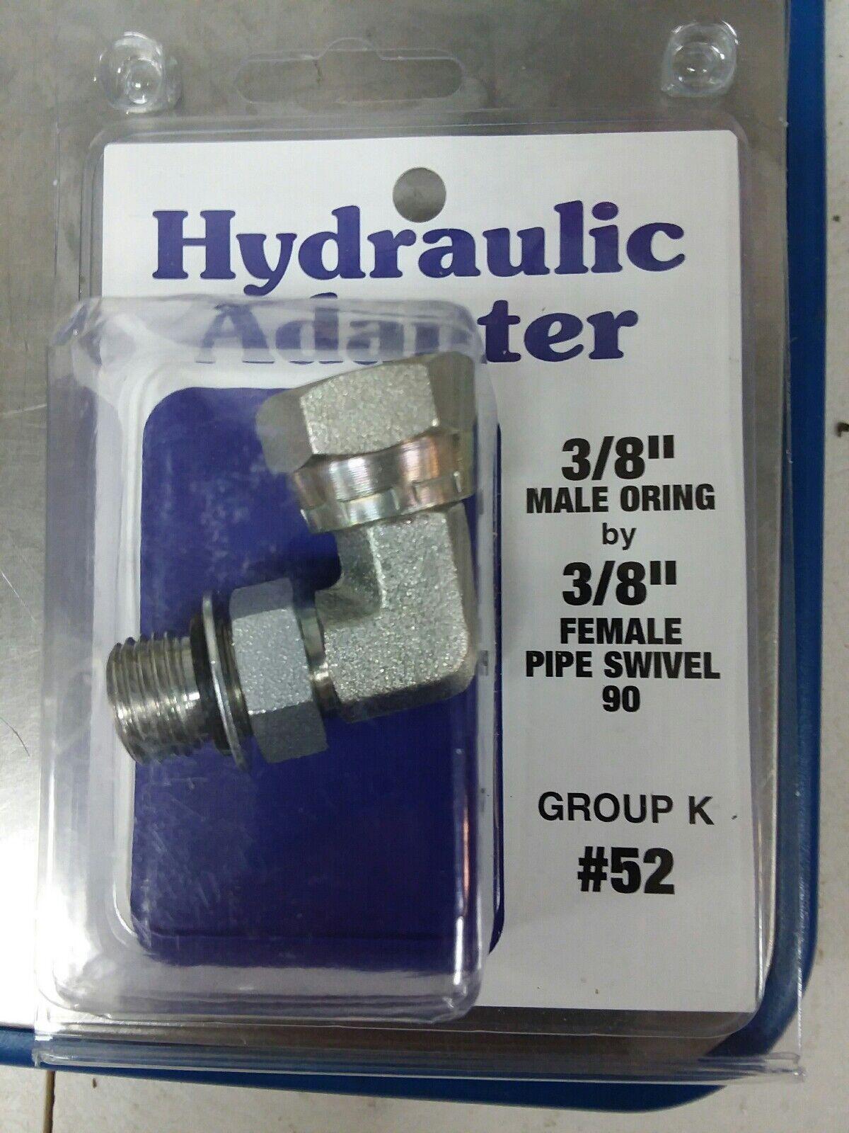 6901-06-04 Hydraulic Adapter 3//8 Male BOSS Swivel X 1//4 Female Pipe Swivel 90 Degree Carbon Steel