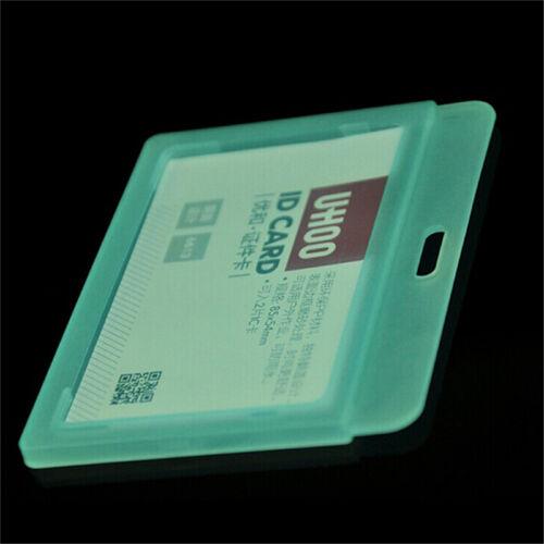 1PC ID Card Holder Clear Plastic Badge Resealable Waterproof Business Case NIJ