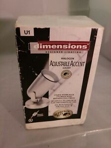 Hampton-Bay-Halogen-Adjustable-Accent-Lamp-Portable-Brushed-Nickle-w-Dimmer
