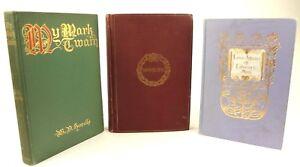 3-vintage-books-1910-My-Mark-Twain-1907-Love-Affairs-of-Literary-Men-Swinburne
