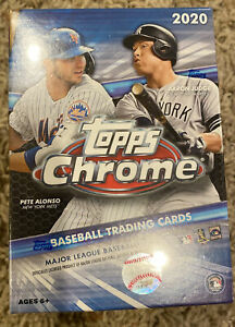 Topps 2020 MLB Chrome Baseball Trading Card Blaster Box