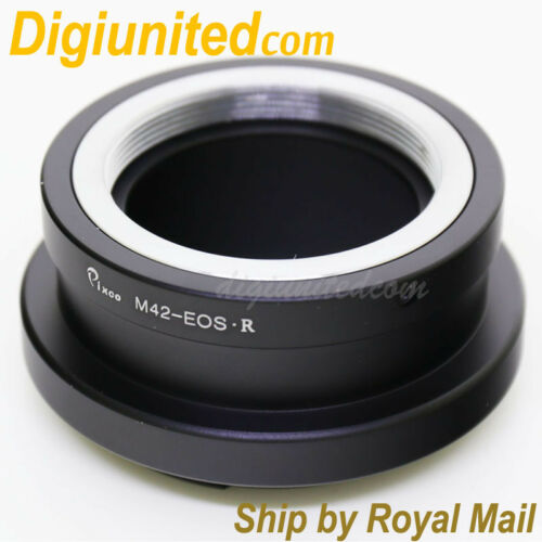 M42 screw lens to Canon EOS R RF mount mirrorless full frame camera adapter