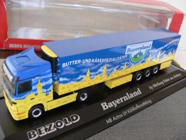 1 87 Herpa 120401 MB Actros LH Bezold Bayernland Sattelzug PC