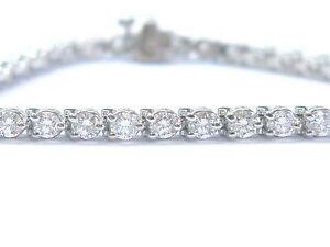 Round-Brilliant-NATURAL-Diamond-White-Gold-Tennis-Bracelet-40-Stones-7-034-4-40Ct