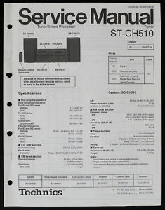 Tv, Video & Audio Technics St-ch510 Original Tuner Service-manual/diagram/parts List O184 Dauerhaft Im Einsatz