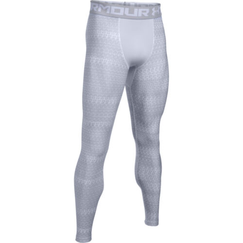 UNDER ARMOUR MEN/'S HEATGEAR PRINTED COMPRESSION LEGGINGS SZ S #1289578-NWT