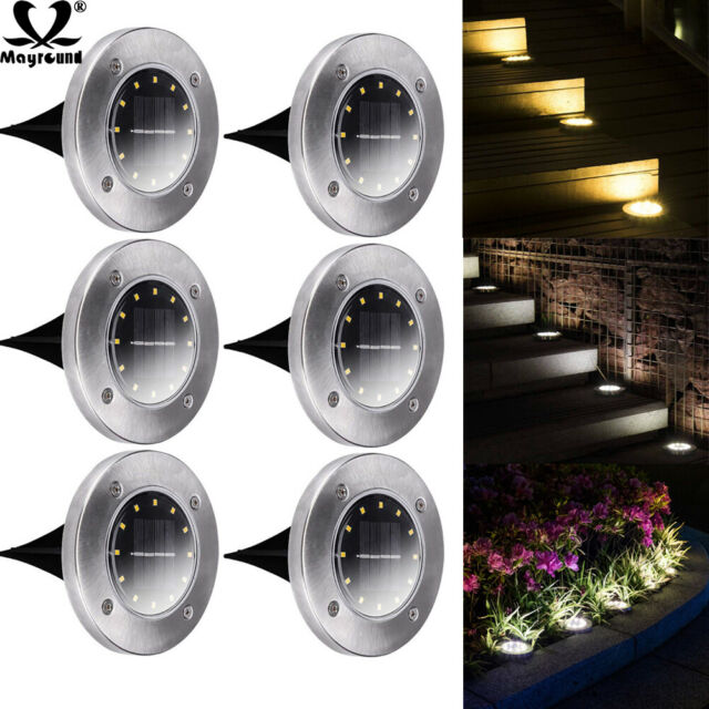 New Solar Powered 12 LED Outdoor Light Lawn Yard Garden Lamp Ornament Decoration