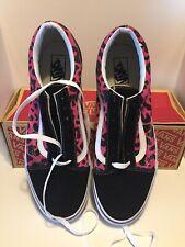 1cbe2bbeb4f1 Vans Old Skool Leopard Pink Black Suede Canvas Mens Size 13 -New! Vans Old  Skool Leopard Pink Black Suede Canvas Mens Size 13