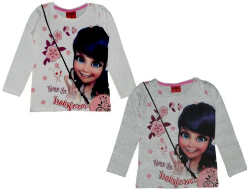 Miraculous Ladybug Cotton Long Sleeve T Shirt Tee Top Authentic Licensed