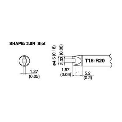 204,206 FM203 Authentic Hakko T15-ILS Fine Point Conical Solder Tip for FX951