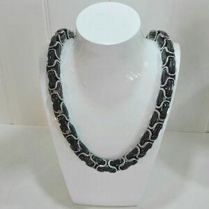 Bizantino-rey-cadena-70cm-14mm-Massive-cadena-de-acero-inoxidable-collar-negro