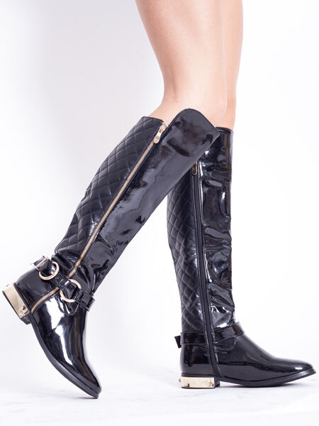 WOMENS LADIES KNEE HIGH BUCKLE DESIGNER FULLY LINED WINTER LONG BOOTS SIZE