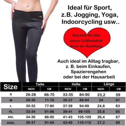 Damen Abnehmen Sport Schwitzhose Fitness Shaper Treggings Leggins Stoffhose Diät