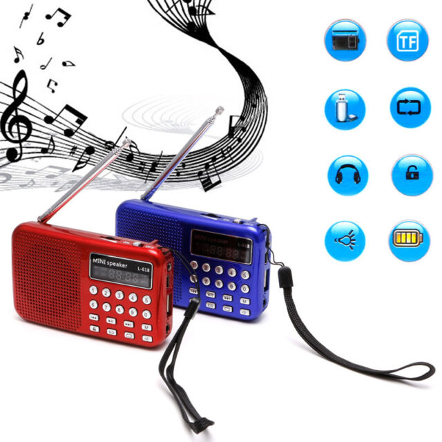 Mini LCD USB Digital Audio FM Radio Speaker Micro SD TF Card MP3 Music Player
