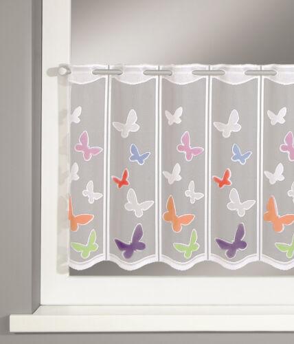 Scheibengardine Schmetterling BxH 140x50cm Bistrogardine Lamellenpanneau Kinder