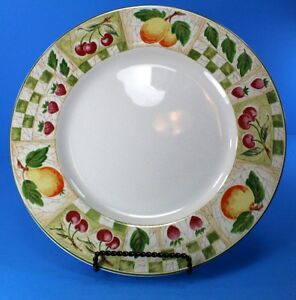 Coventry DECOUPAGE Dinner Plate EXCELLENT CONDITION Peaches