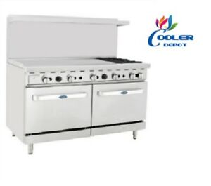 Image Is Loading New 60 034 Commercial Gas Double Oven Range