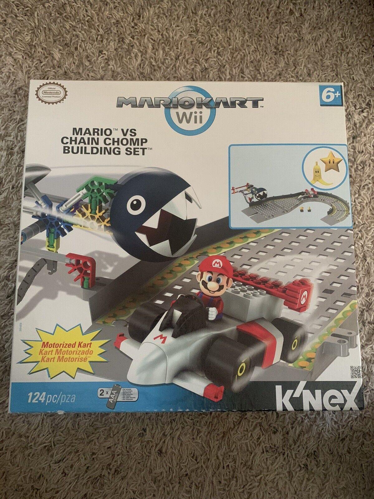K/'NEX Super Mario Mario Kart Wii Mario vs Chain Chomp Set #38469