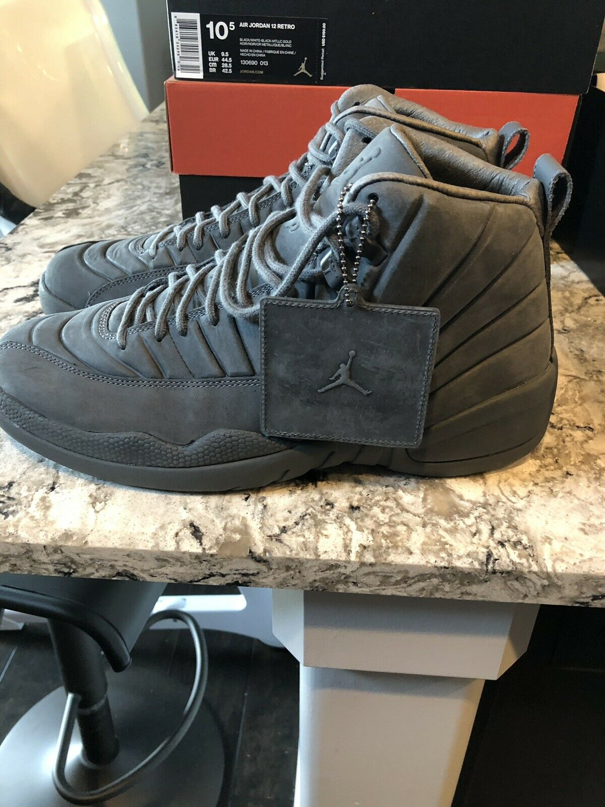 Air Jordan 12 x PSNY Grey. 10.5 New