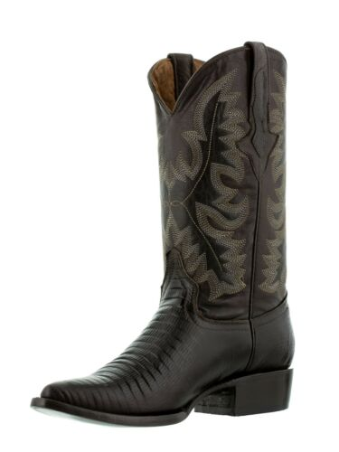 Details about  /Mens Brown Exotic Rodeo Riding Lizard Print Western Leather Cowboy Boots J Toe