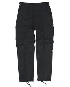 Zip-Off Cargohose/Bermuda Feldhose BDU mit abtrennbaren Beinen schwarz
