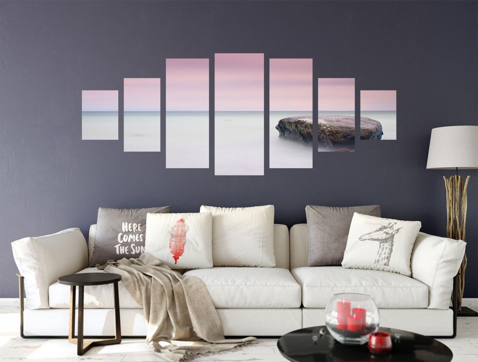 3D Coastal Stone 676 Unframed Print Wall Paper Decal Wall Deco Indoor AJ Wall