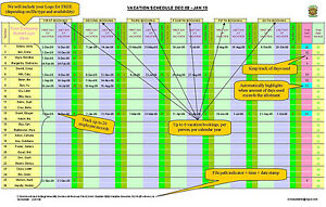 excel staff employee vacation time off scheduler spreadsheet free
