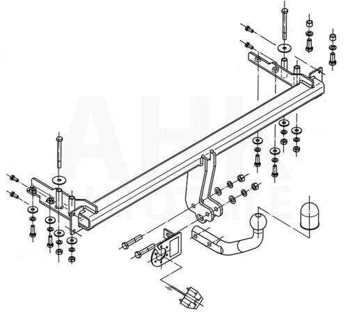 Für Chevrolet Lacetti 5-Tür Anhängerkupplung starr+ES 7p ABE