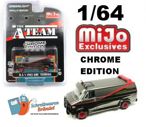 1:64 Chevy mijo Chrome Edition B.A GreenLight hollywood A-Team van gmc vandura