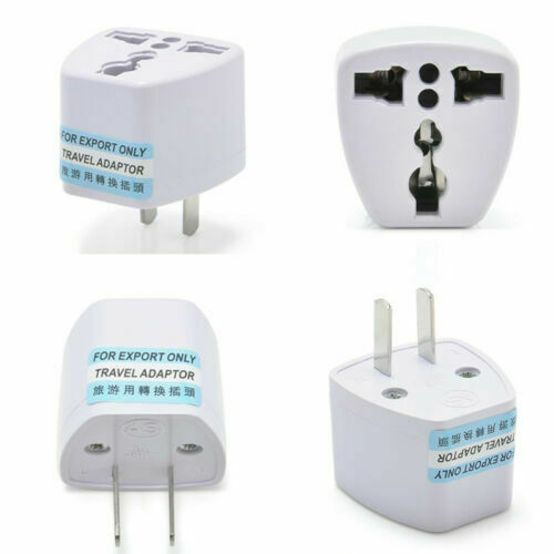Universal EU UK AU to US AC Travel Power Plug Adapter Outlet Converter white