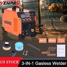 3 In 1 Mig Mma Tig Welder Dc 200a Inverter Gas Gasless Arc Spool Welding Gun