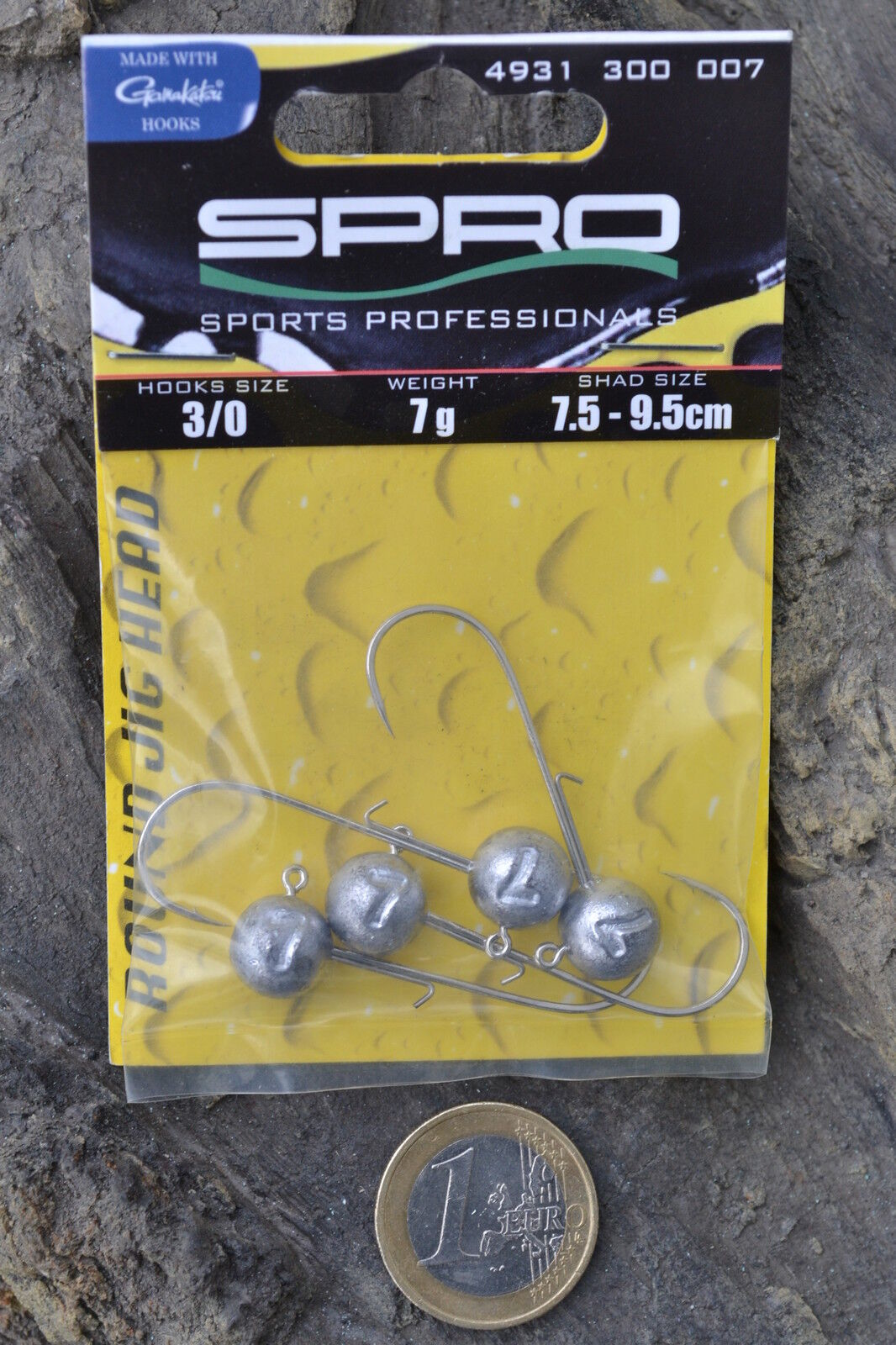 Spro Jigkopf Jighaken No.1 Jighead Round Größe 3//0 14,0g