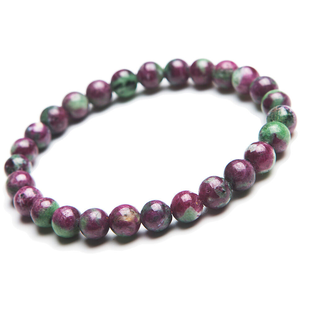 Natural Ruby Zoisite Gemstone Woman Beads Bracelet 7mm AAA
