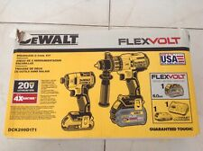 Dewalt Flexvolt 20v Max Li Ion 2 Tool Combo Kit With 2 Batteries Dck299d1t1 New 885911468039 For Sale Online