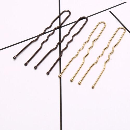 20x//set Women U Shaped Hairpin Hair Clips Bobby Pins Metal Barrette Fashion ES