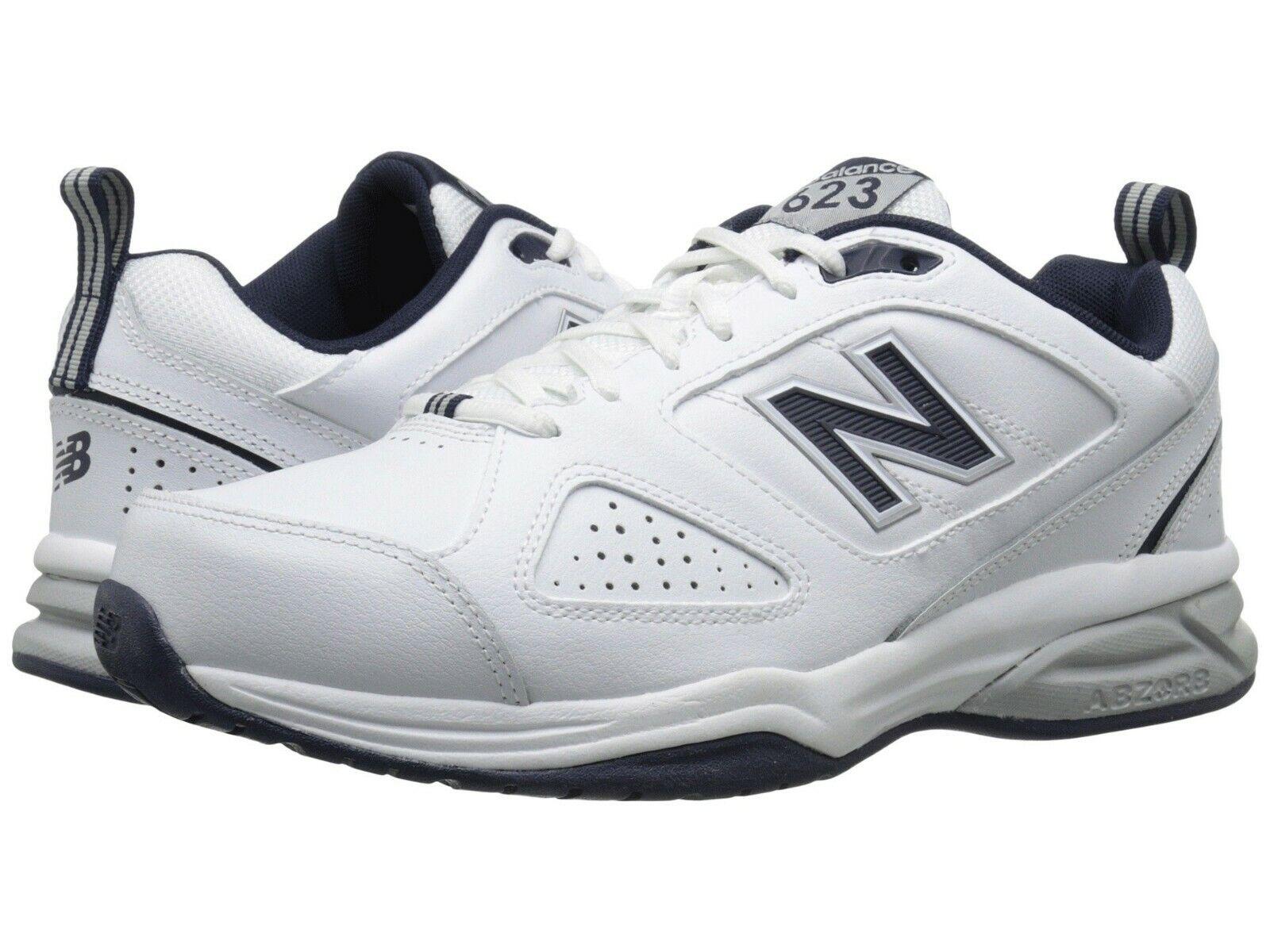 NIB - NEW BALANCE Men's Men's Men's '623v3' White   Navy ATHLETIC TRAINING SHOES - US 10.5 4e9899