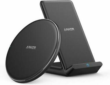 2-Pack Anker Wireless Chargers PowerWave Pad & Stand
