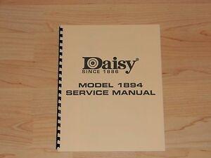 daisy model 1894 factory service manual d1 ebay rh ebay com Daisy Model 1894 Disassembly PDF Daisy Model 1894 Disassembly PDF