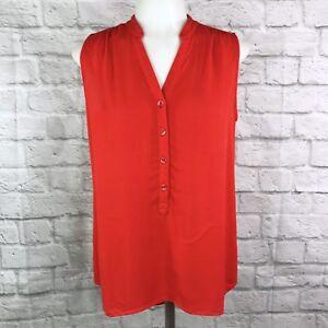 Cabi-Women-039-s-Small-Blouse-Orange-Sleeveless-Top