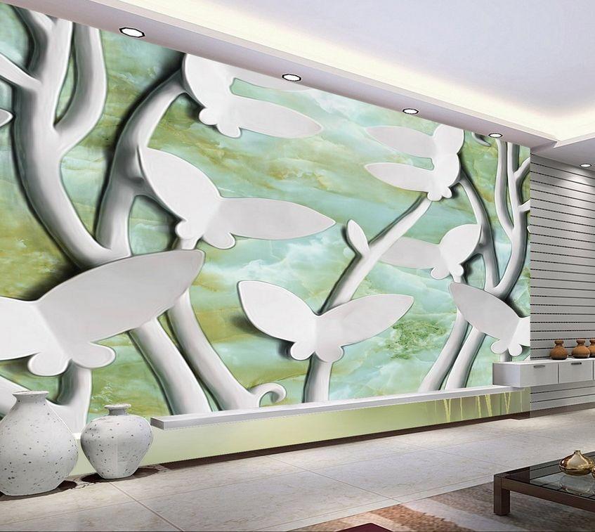 3D Beau Papillon 72 Photo Papier Peint en Autocollant Murale Plafond Chambre Art