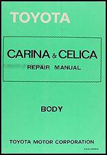 Toyota Celica Body Shop Manual 1978 1979 1980 1981 base repair service for Supra