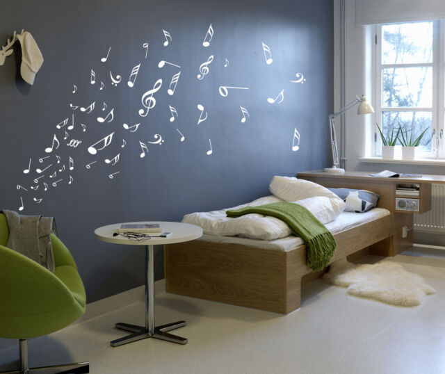 Music Musical Melody Note Vinyl Stickers, Wall Window Art Sticker- HIGH QUALITY