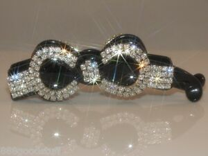 Brand New Gorgeous Hair Clip Claw w Shinny Swarovski Crystals Hair Accessories