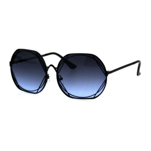 Womens Metal Rim Nouveau Metal Art Frame Designer Sunglasses