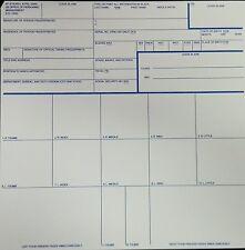 Fingerprint Cards Applicant FD-258 50 Pack for Employment Clearances