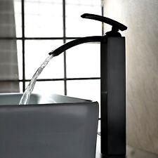 Oil Rubbed Bronze Waterfall Bathroom Basin Faucet Single Handle Sink Mixer Tap